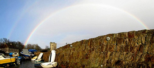Rainbow Over Dysart Harbour
