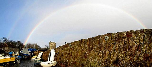 Rainbow Over Dysart Harbour