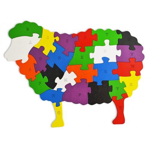 Lắp ghép đồ chơi gỗ - con cừu