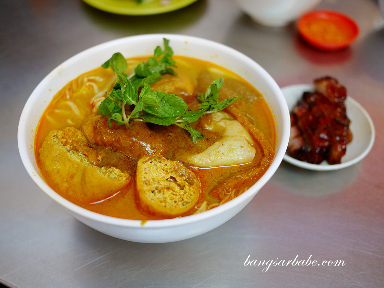 Curry Laksa with Char Siew