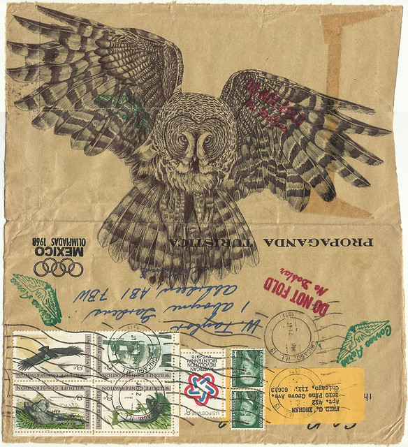 Bic biro drawing on 1971 envelope.