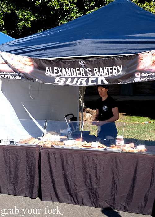Alexander's Bakery Burek at the Canterbury Foodies and Farmers Market, Sydney