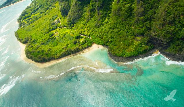 Birds Eye Haena State Beach Kauai