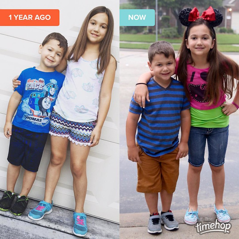 Last day of school last year and last day of school this year!! ❤️❤️❤️