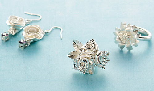 All Things Paper Quilled Silver Jewelry Art Clay Silver