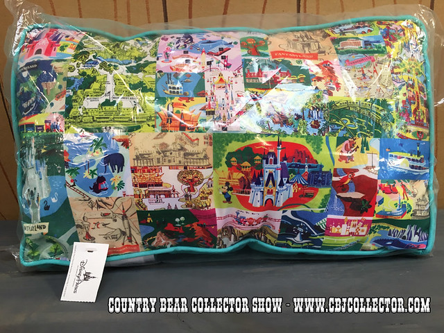 2014 Walt Disney World Magic Kingdom Map Throw Pillow - Country Bear Jamboree Collector Show #054