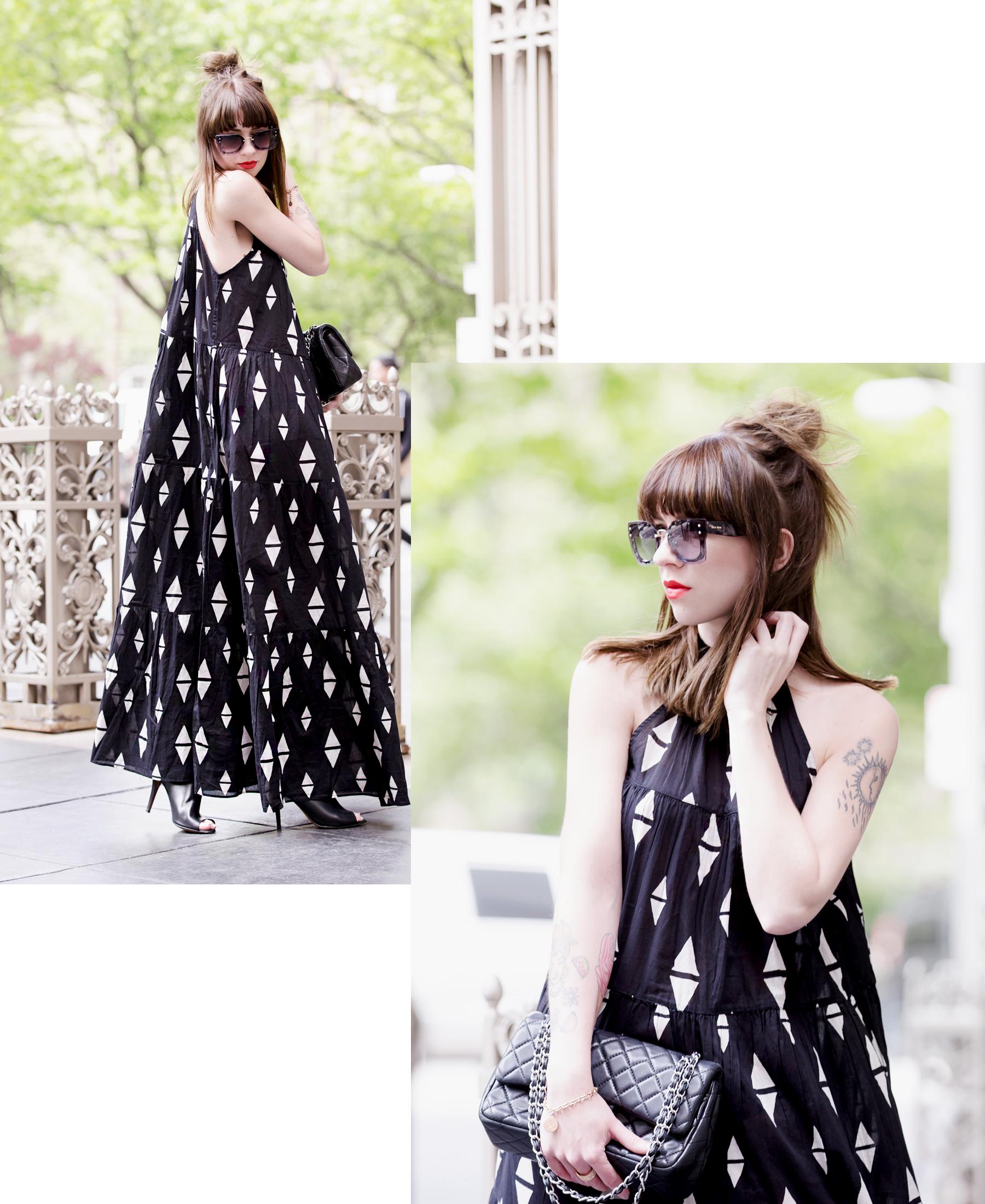 h&m maxi dress miu miu sunglasses chanel 2.55 double flap bag sacha heels ootd outfit styling fashionblogger modeblogger germany ricarda schernus cats & dogs styleblog 5