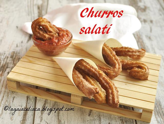 Churros salati senza glutine