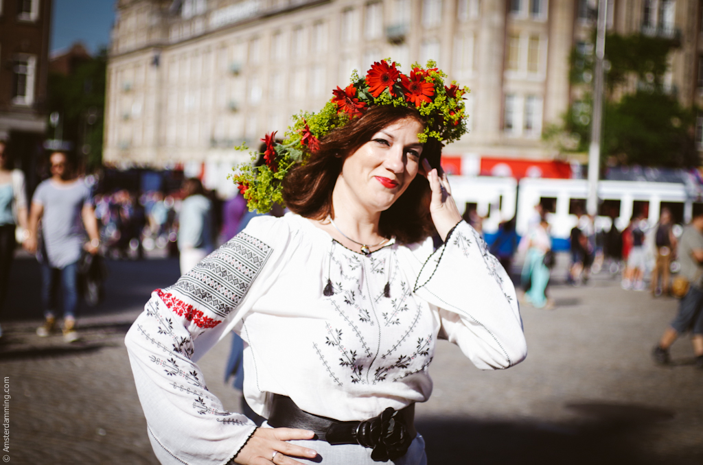 Amsterdam - Celebrating the day of IA, the Romanian blouse