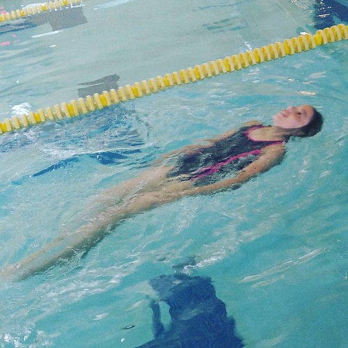 She swims too!  Level 4 swimmer now!