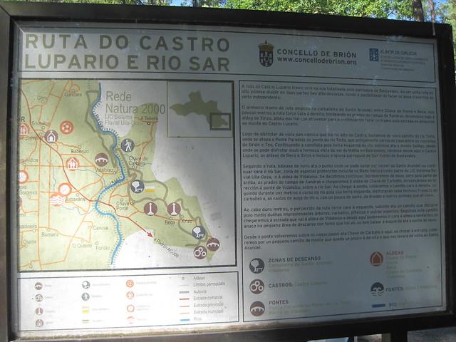 Panel Informativo en la ruta del Castro Lupario y río Sar