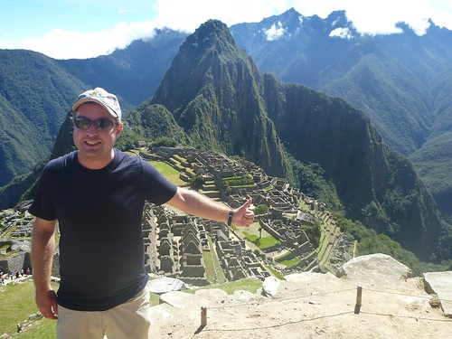 James in front of Macchu Pichu
