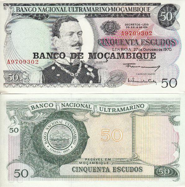 50 Escudos Mozambik 1976, Pick 116