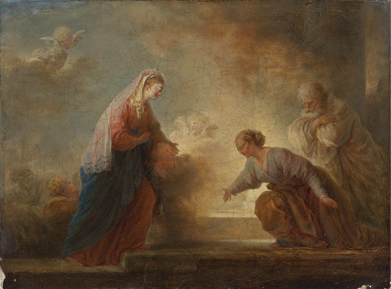 Attributed to Jean-Honoré Fragonard - The visitation