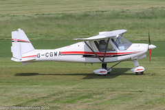 G-CGWA - 2011 Performance Aviation built Comco Ikarus C42 FB80 Bravo, taxiing to parking on arrival at Barton
