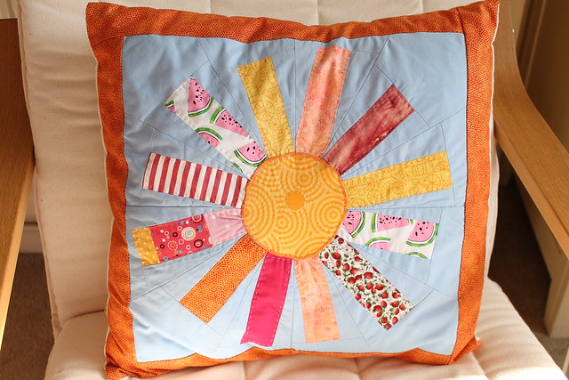 wonky sunshine cushion