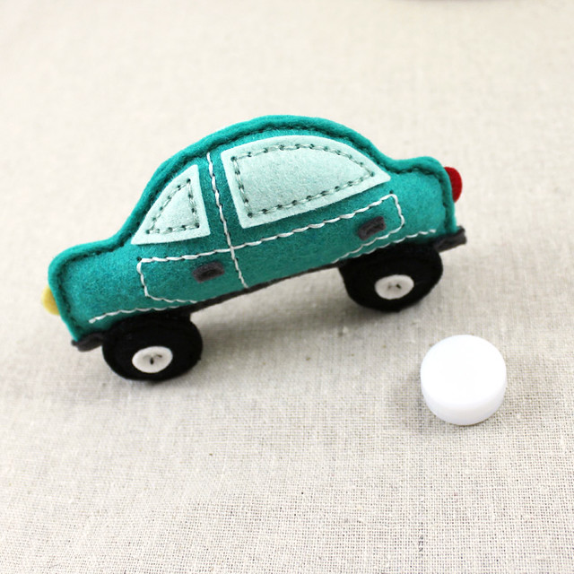 Felt Car Rattle With Rattle Insert