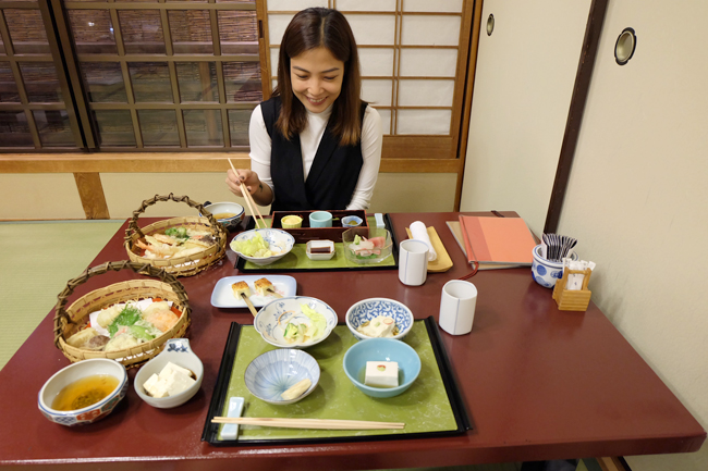 traditional japanese meal gion