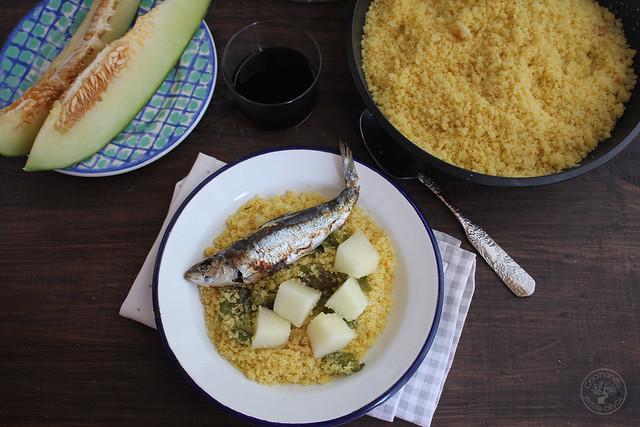 Migas de semola con melon y sardinas (4)