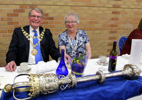 Hedon Mayor and Mayoress at Mayormaking dinner 2016.