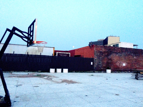 Basketball Hoop in the Norfolk Arts District (July 1 2015)
