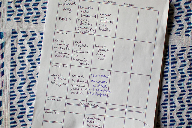 meal planning - june