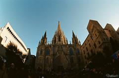 La Catedral de la Santa Cruz y Santa Eulalia. Barcelona. Spain