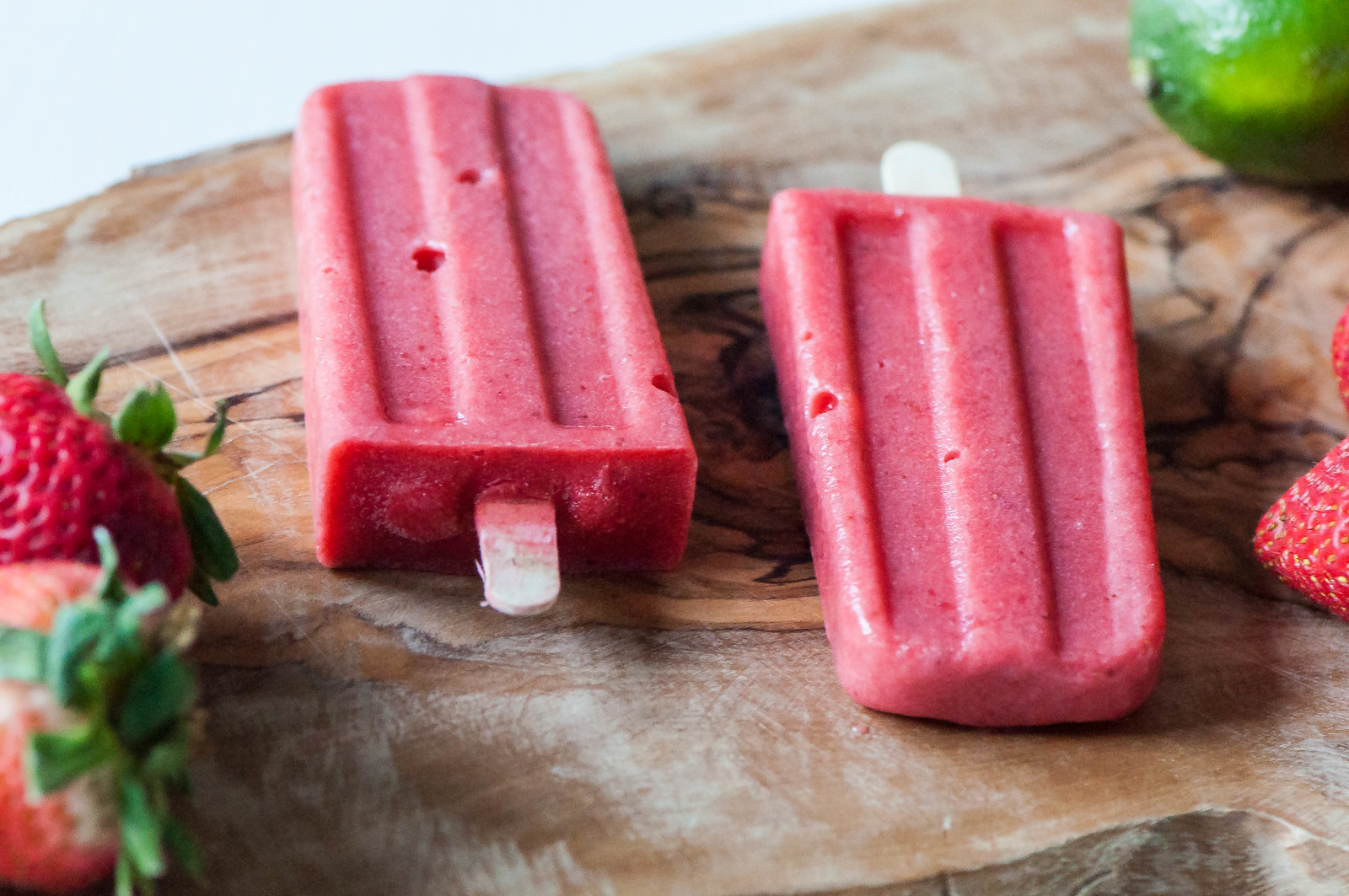 Strawberry Coconut Margarita Pops 16