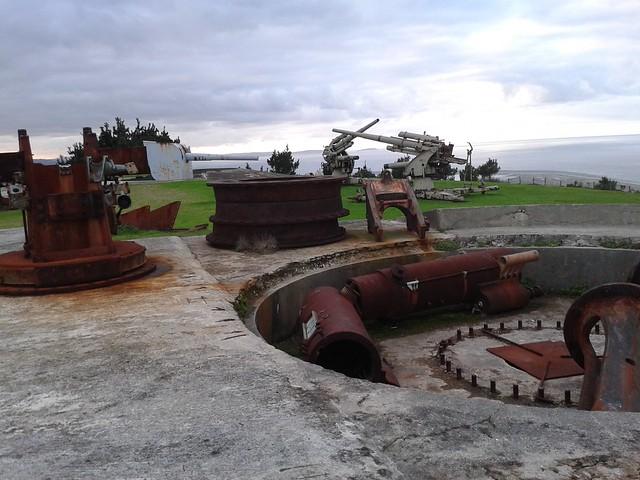 Artillería en el Parque Forestal de Monticaño