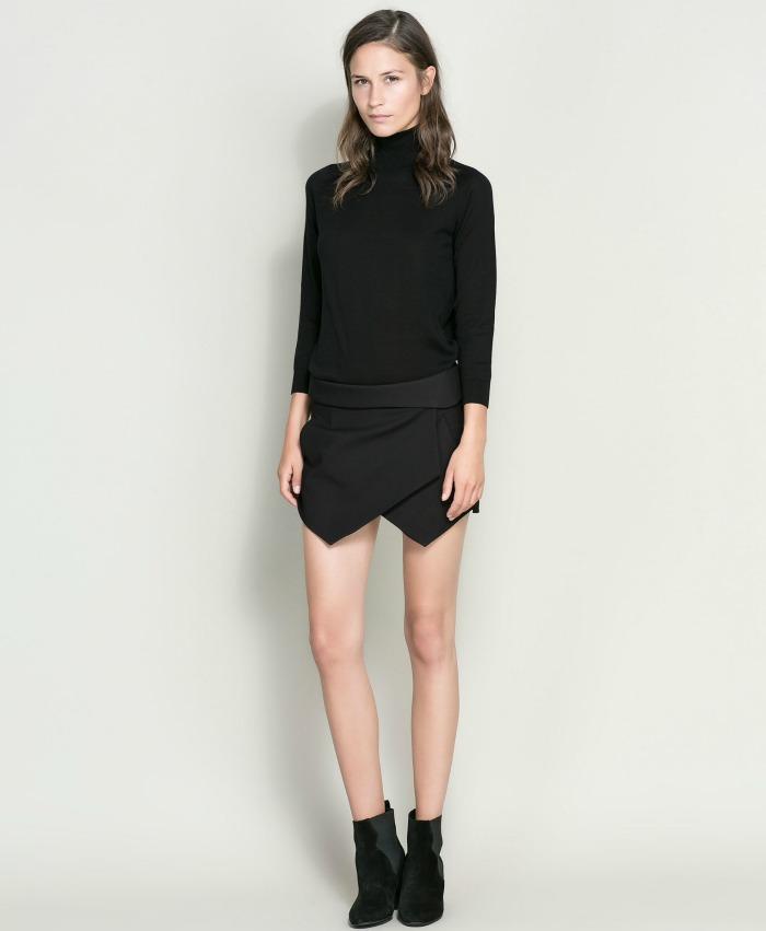 falda papiro negra