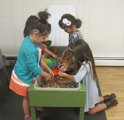 examining the water beads