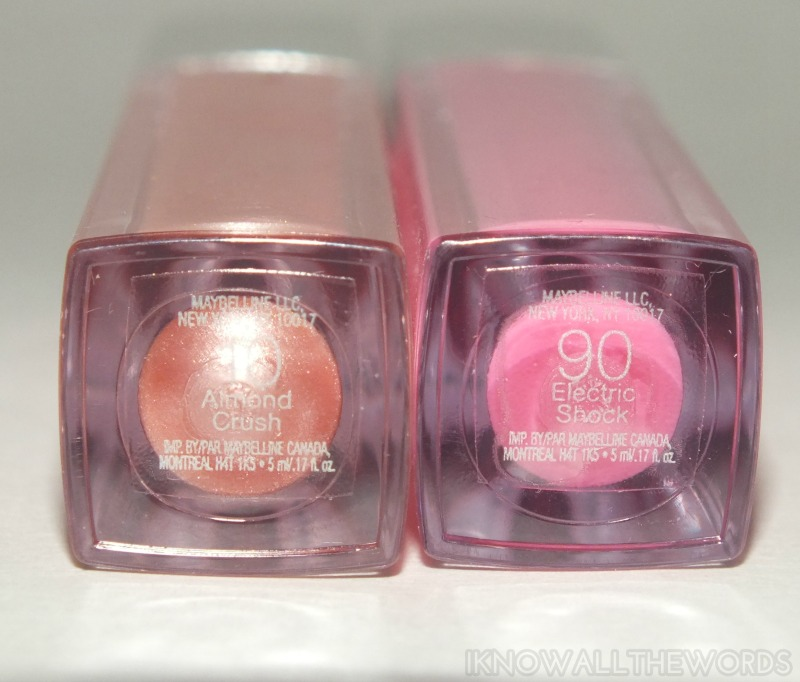 Maybelline High Shine Gloss- Almond Crush and Electric Shock (6)