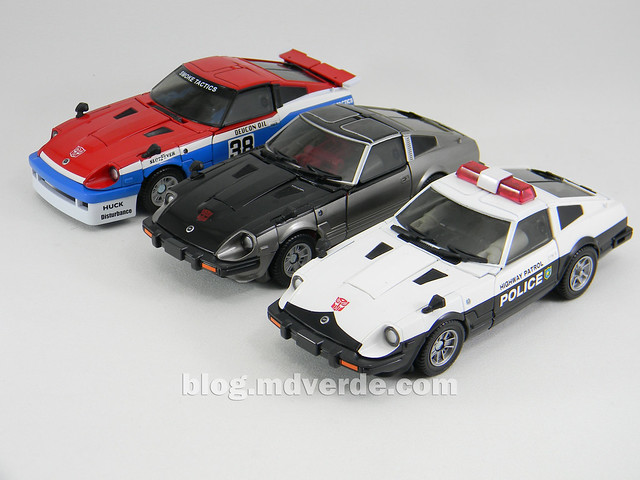 Transformers Smokescreen - Masterpiece - modo alterno vs otros Nissan Fairlady Z