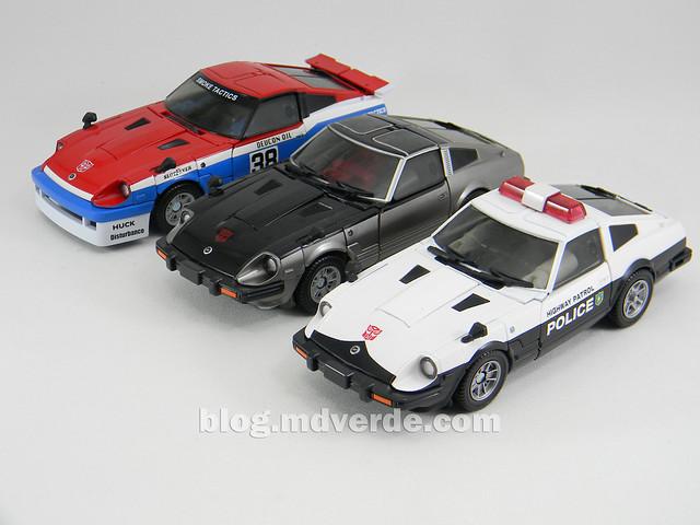 Transformers Smokescreen - Masterpiece - modo alterno vs otros Nissan Fairlady Z