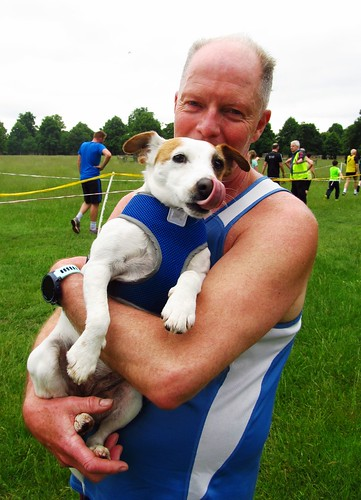Vaughan Howells with his dog post run!