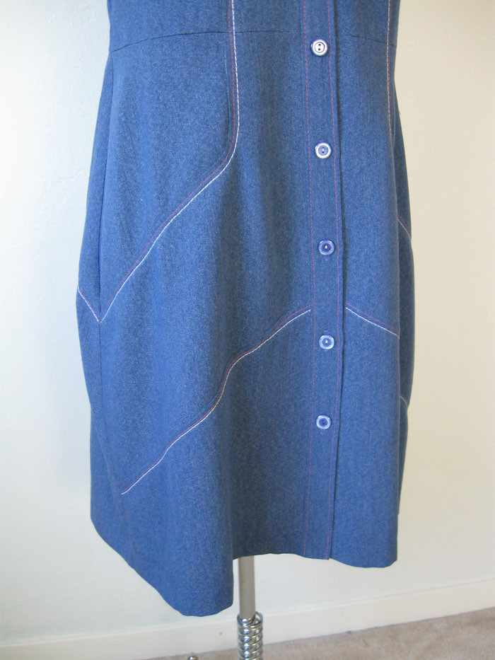blu denim on form skirt
