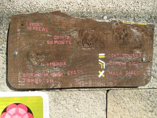 Panel en el PR-G 4 Camiño Real San Pedro de Rocas