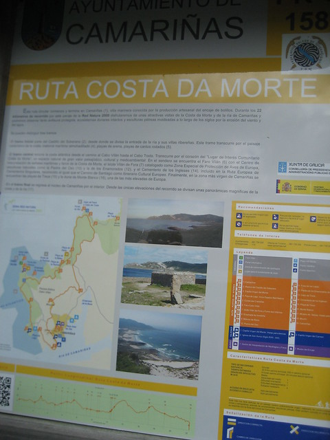 Panel Informativo en el PR-G 158 Ruta da Costa da Morte