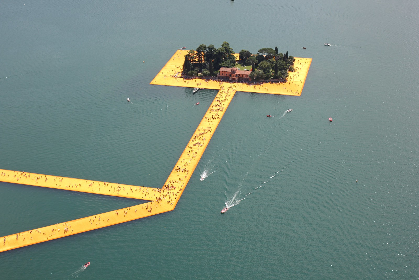 Christo and Jeanne-Claude: The Floating Piers Lago d'Iseo Italy