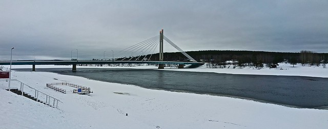 Rovaniemi city bridge panorama