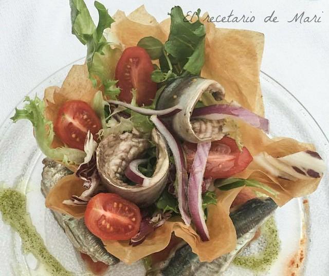 ensalada de chicharros marinados 1
