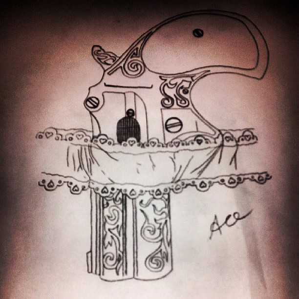 Garter Tattoo Sketch Garter Pistol Tattoo
