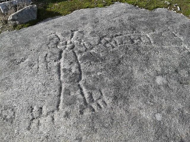 Laxe dos Homes petroglifo en Cuntis