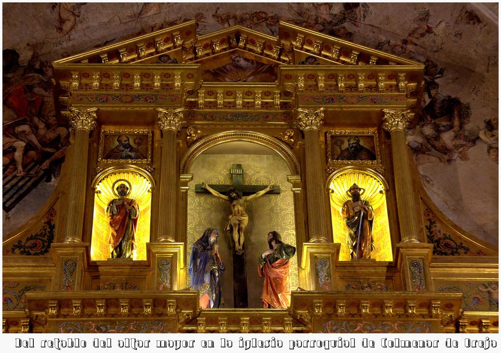 Del retablo de la parroquial de Colmenar