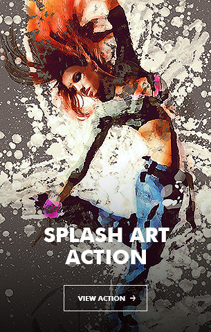 Creative Splatter Photoshop Action - 27