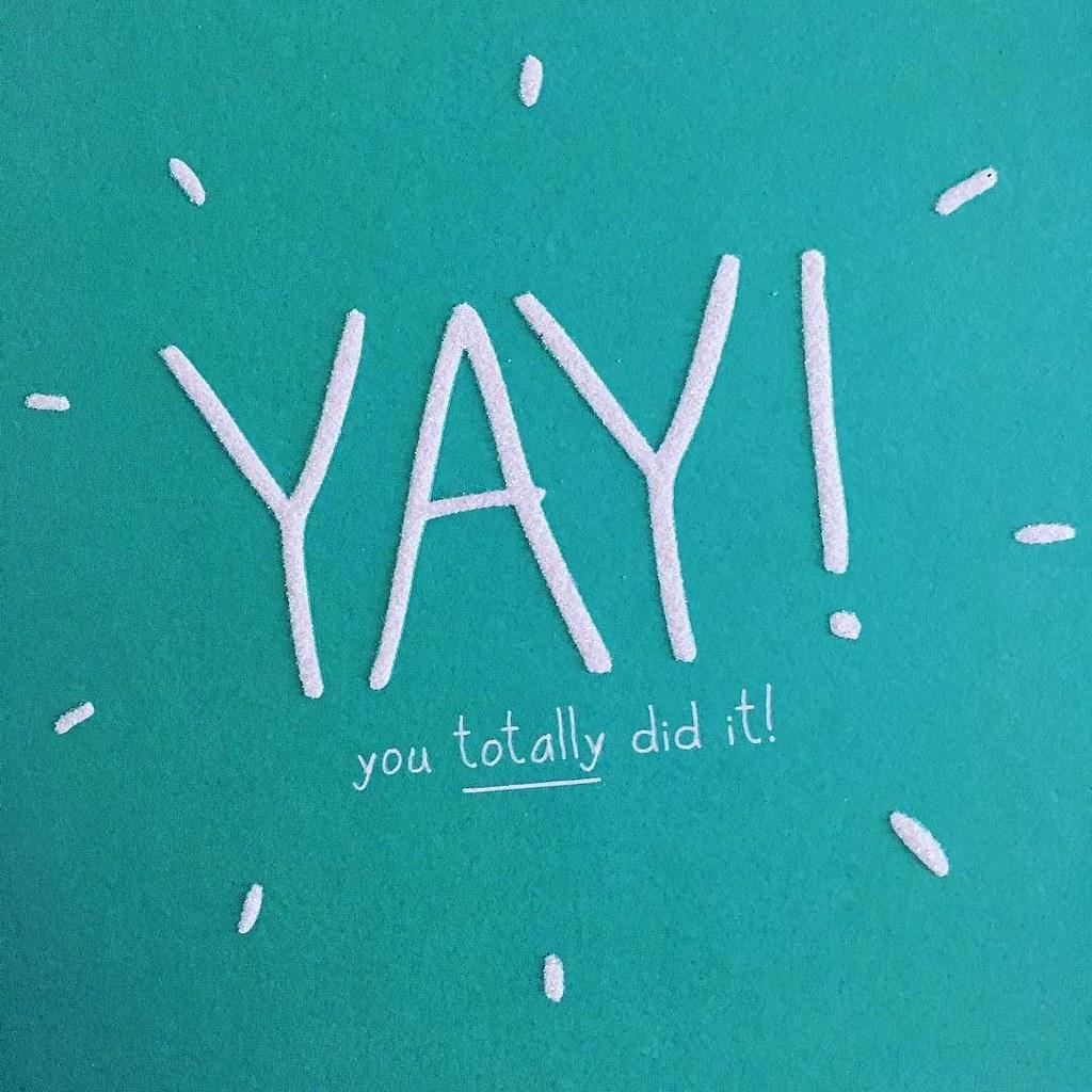 I did it! 🎉