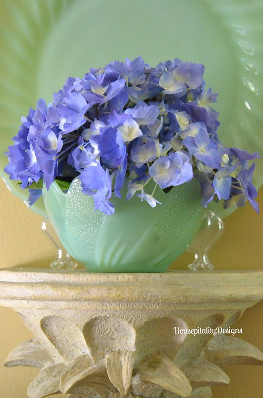 Hydrangea in Jadite - Housepitalty Designs