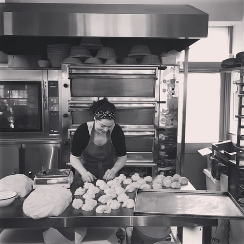 Witnessing the bun-making magic at @aliskitchencork #baking #corkcity #brunchcork #buns #dough #corkfood