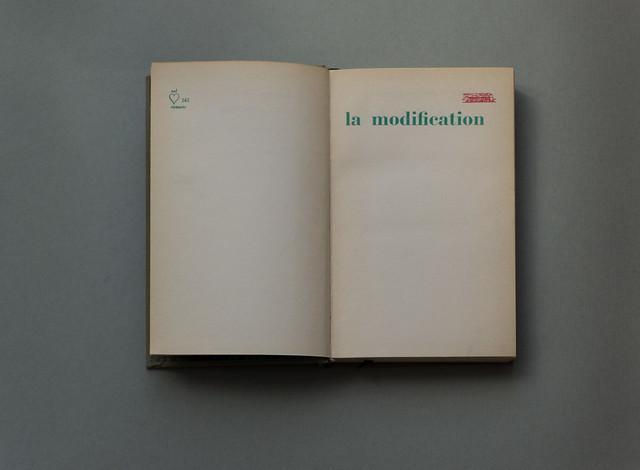 Michel Butor, La Modification (1959, Club français du livre)