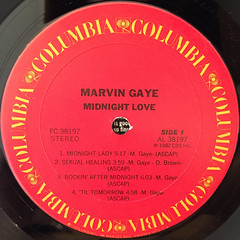 MARVIN GAYE:MIDNIGHT LOVE(LABEL SIDE-A)